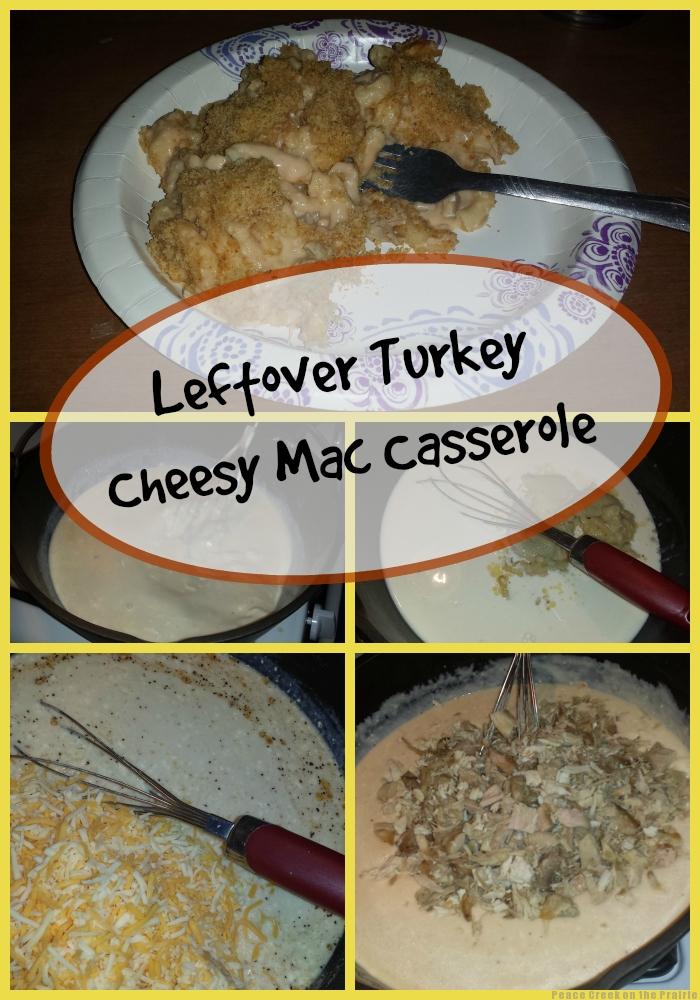 Leftover Turkey Cheesy Mac Casserole