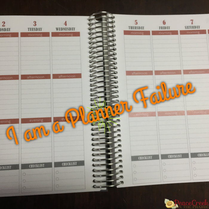 I am a planner failure. Struggling with planning is very discouraging. Learn about one mom's struggle and ideas to help.
