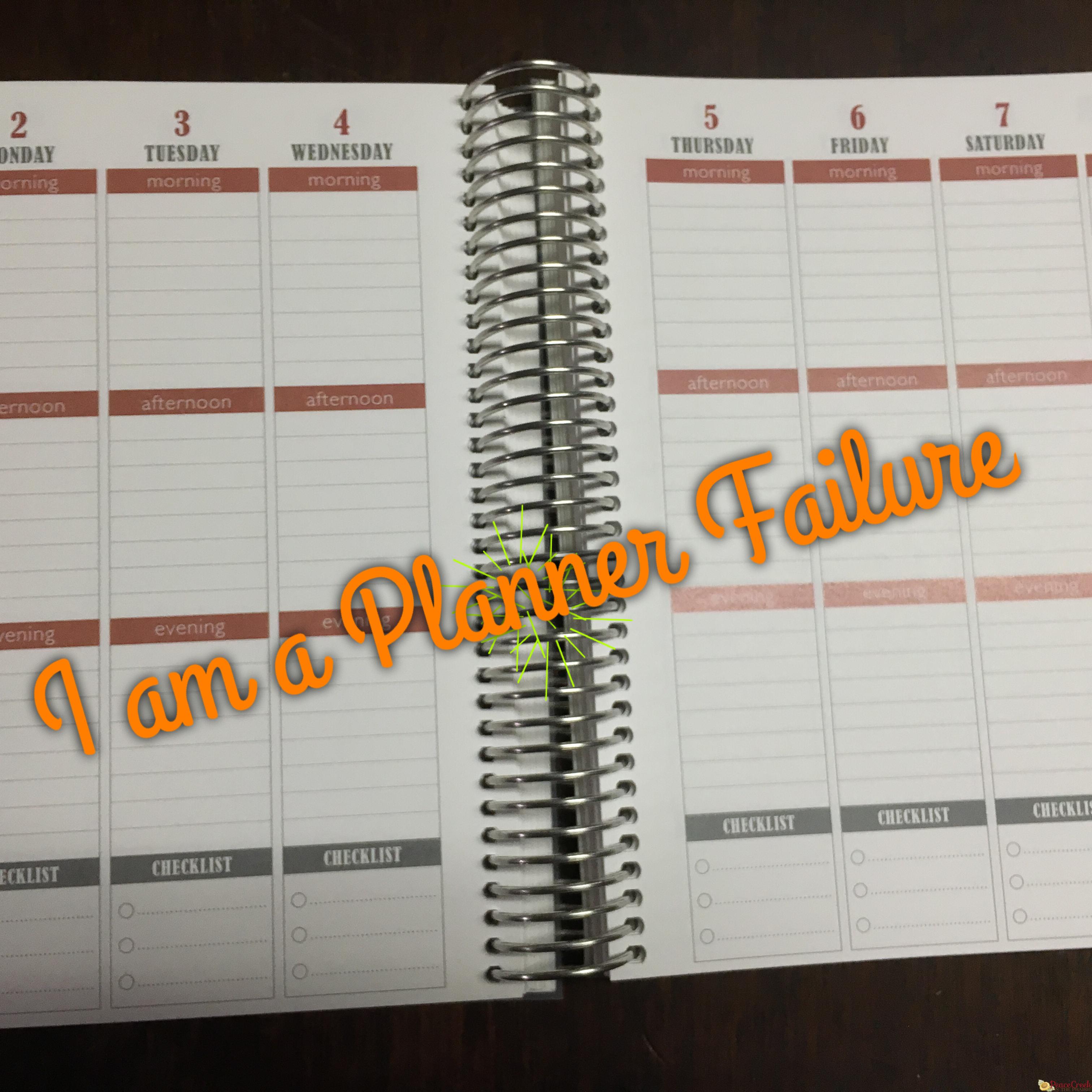 I am a Planner Failure
