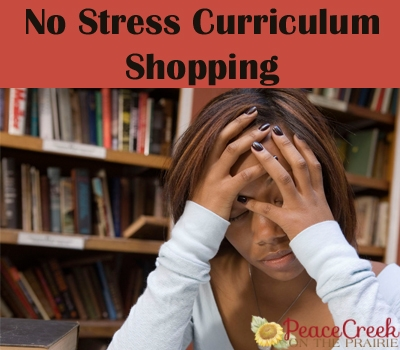 Curriculum shopping does not have to be stressful. In fact with a few preparations before you begin, it can actually be a fun family event. It has taken me a few years to figure out how to do the no stress curriculum shopping.