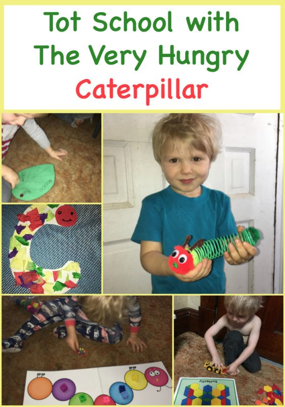 Tot School with The Very Hungry Caterpillar
