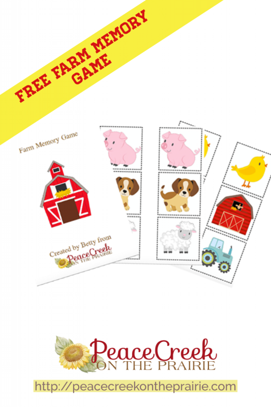 This Farm Memory Game is Free for a limited time. There are 15 matches and all sorts of fun waiting for that preschool child in your life.